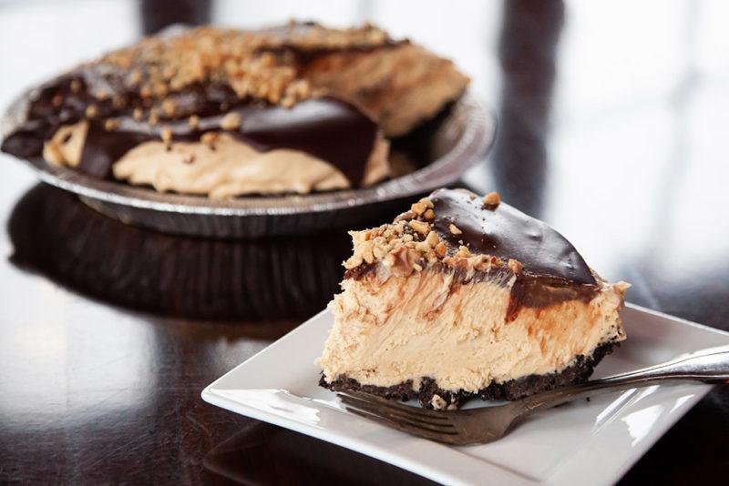 Kitchen Made Chocolate Peanut Butter Cream Pie