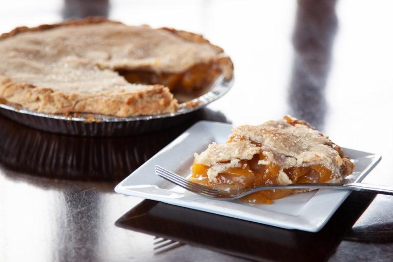 A slice of Peach Fruit Pie